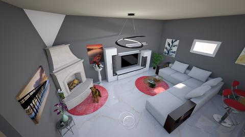kuchin a obyvackav - Living room  - by Grafit