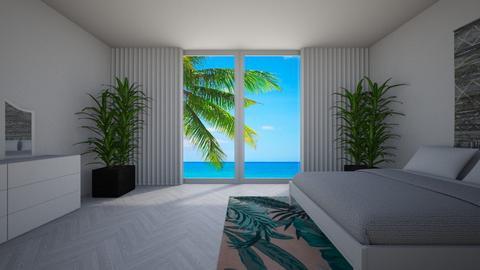 Tropical Room - Modern - Bedroom  - by jordynclark