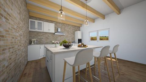 Modern Farmhouse kitchen - Kitchen  - by ATHENANn