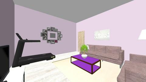 Purple living room - Living room  - by Mara Dobrescu