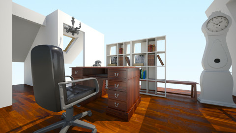 antique attic office - Vintage - Office  - by samijaden