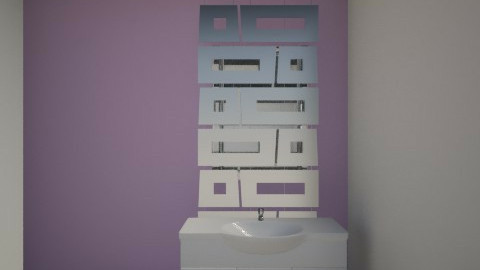 purple bathroom - Eclectic - Bathroom  - by Hristina9409