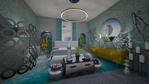Tyrqouise_Metal_Modern_BedRoom_ - Modern - Bedroom - by Nikos Tsokos