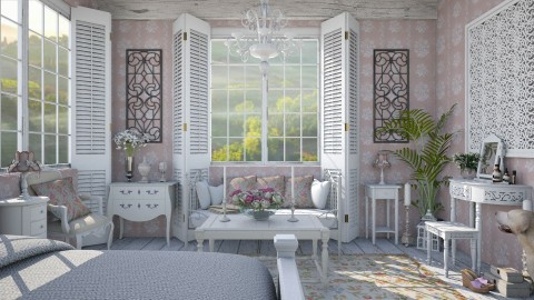 Design 157 Shabby Chic - Bedroom  - by Daisy320