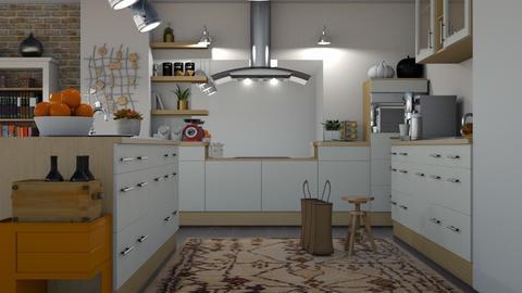 autumn kitchen - Rustic - Kitchen  - by martinini