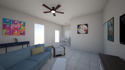 222 LR - Rustic - Living room  - by phantomco