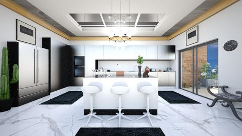 kitchen with bar  - Modern - Kitchen  - by zayneb_17