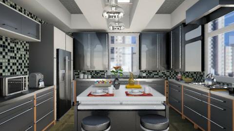 Cozinha Black clean - Kitchen  - by Roberta Coelho