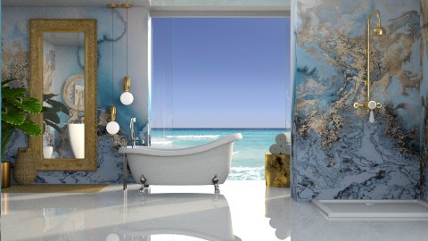 Ocean marble - Bathroom  - by meggle