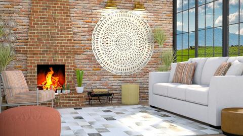 Brick Fireplace - Classic - Living room  - by millerfam