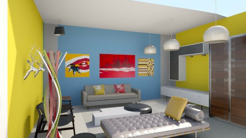 Lounge 4D - Retro - Living room  - by Quentin Britton