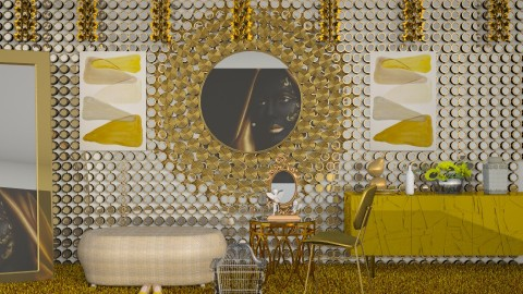 Golden Girl - Modern - Living room - by InteriorDesigner111