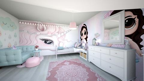 girlsroomremix - Kids room  - by tahliawaters