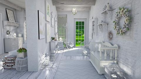 shabby chic hallway - by Moonpearl