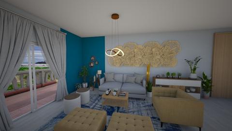 sala com flores - Living room  - by Tainaraa