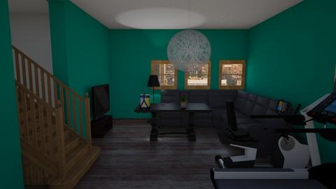 Gym and living room _ My version - Classic - Living room  - by designkitty31