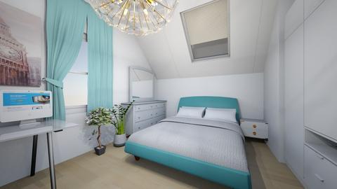My bedroom Blue white - Modern - Bedroom  - by staisy_piulskaya