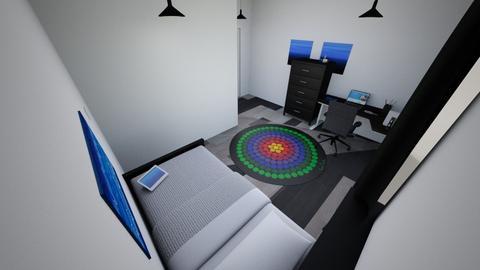 Room Blue Ryuko - Modern - Bedroom  - by YustiUwU
