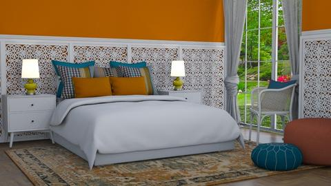 Indian colors - Bedroom  - by Tuija