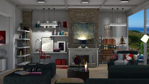 Books - Modern - Living room  - by nat mi