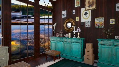 Attic Corner - Eclectic - Living room  - by HGranger2