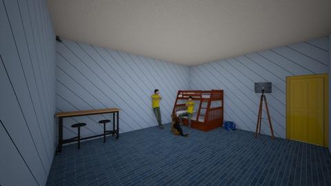 Room for Twins - Bedroom  - by Ezequiel Alfaro
