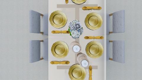 Elegant Dinner - Dining room  - by Jahsoftball_