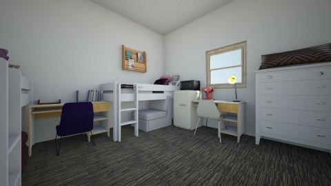Dorm Room - Bedroom - by triplem27