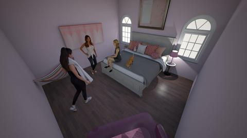 Pink Bedroom Sleepover - Living room  - by TheDino