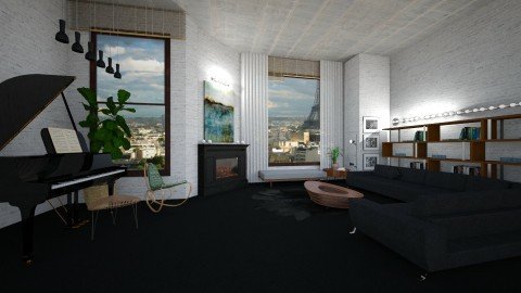 winter wonderland - Glamour - Living room  - by whateffer