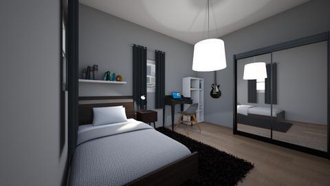 teen bedroom - Bedroom - by AfroditeGoldie