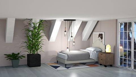 Atttic bedroom - Rustic - Bedroom  - by kiwimelon711