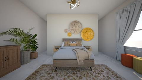 Boho bedroom - Bedroom - by DomiMat