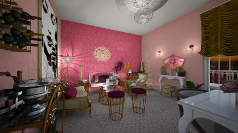 Pink and Purple Luxury - Glamour - Living room  - by mmt_regina_nox