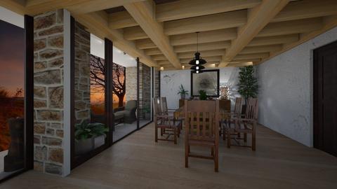 Proyecto Pedro Pablo 3 - Rustic - Living room  - by JENELISA