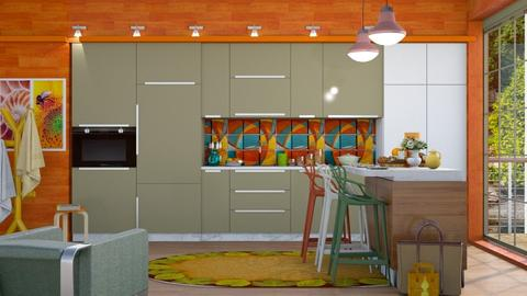 M_Colourful Kitchen - Kitchen  - by milyca8