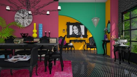 A color oasis  - Modern - Dining room - by Ida Dzanovic