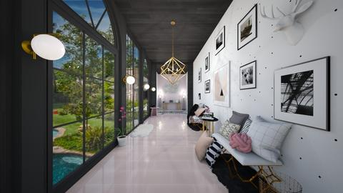 modern playful hallway - Living room - by waibelmackenzie