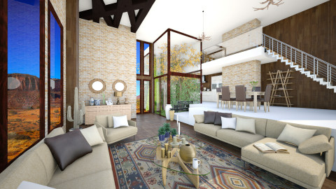 desert home - Modern - Living room  - by Senia N