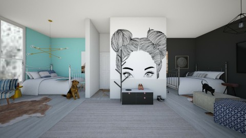 Twins Room - Eclectic - Bedroom  - by love Tully love