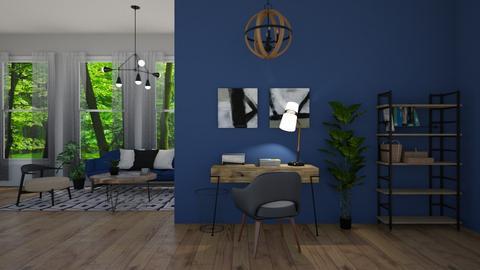 navy living - Modern - Living room - by jammuek