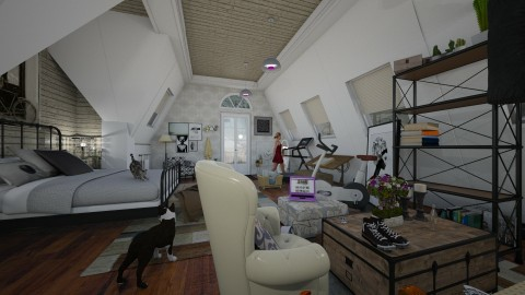 attic room with dormer - by kyarbrough5t