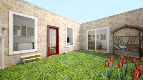Patio y casa  - Classic - Garden  - by FlorenciaaC