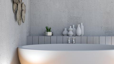 Concrete bath  - Bathroom  - by FANGIRLdesigner