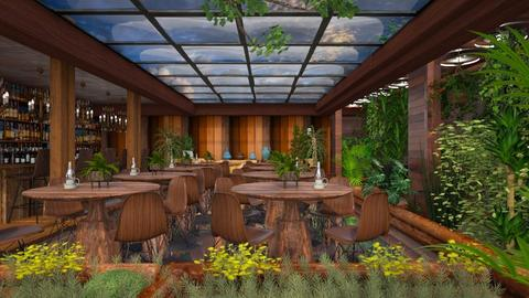 A green restaurant  - Modern - Dining room  - by Ida Dzanovic