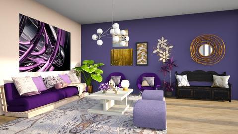 Purple Living - Living room  - by Feeny