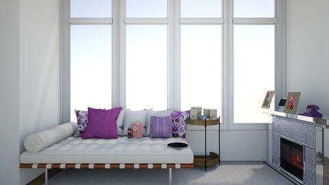 Periwinkle Violets - Living room  - by michiah