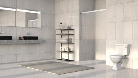Gray Stone Bathroom - Minimal - Bathroom  - by millerfam