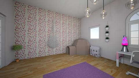 pink - Kids room  - by malinkna