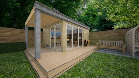 Woodworkers Shed - Garden  - by CassW